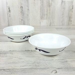 Corelle Set of 4 Lyrics Design Soup Cereal Bowls